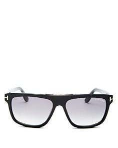 Tom Ford - Men's Cecilio Flat Top Sunglasses, 56mm