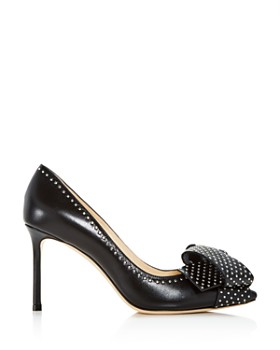 Jimmy Choo - Women's Tegan 85 Studded Leather High-Heel Pointed Toe Pumps