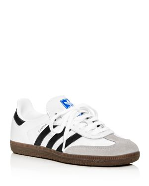 Samba Original Leather/Suede Sneakers, White/Black/Granite