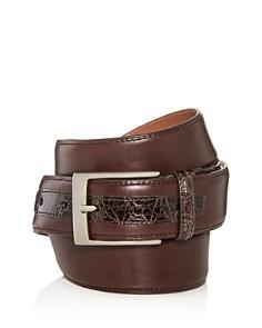 Bryant Park Leather & Alligator Belt - Bloomingdale's_0