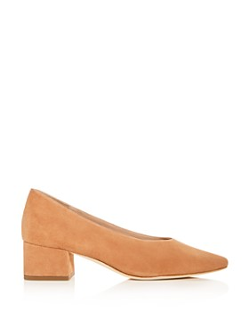 Loeffler Randall - Women's Brooks Suede Block Heel Pumps