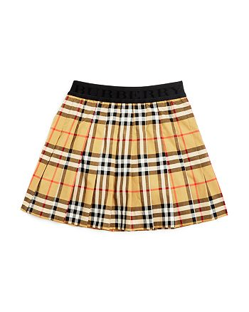 0a18a19f508901 Burberry - Girls  Vintage Check Pleated Skirt - Little Kid