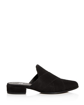 Eileen Fisher - Women's Tumbled Nubuck Leather Mules