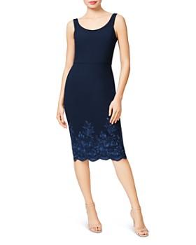 Betsey Johnson - Embroidered Scuba Crepe Midi Dress