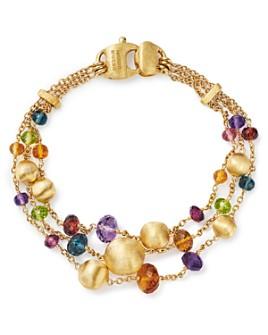Marco Bicego - 18K Yellow Gold Africa Color Multi Gemstone Triple Strand Bracelet
