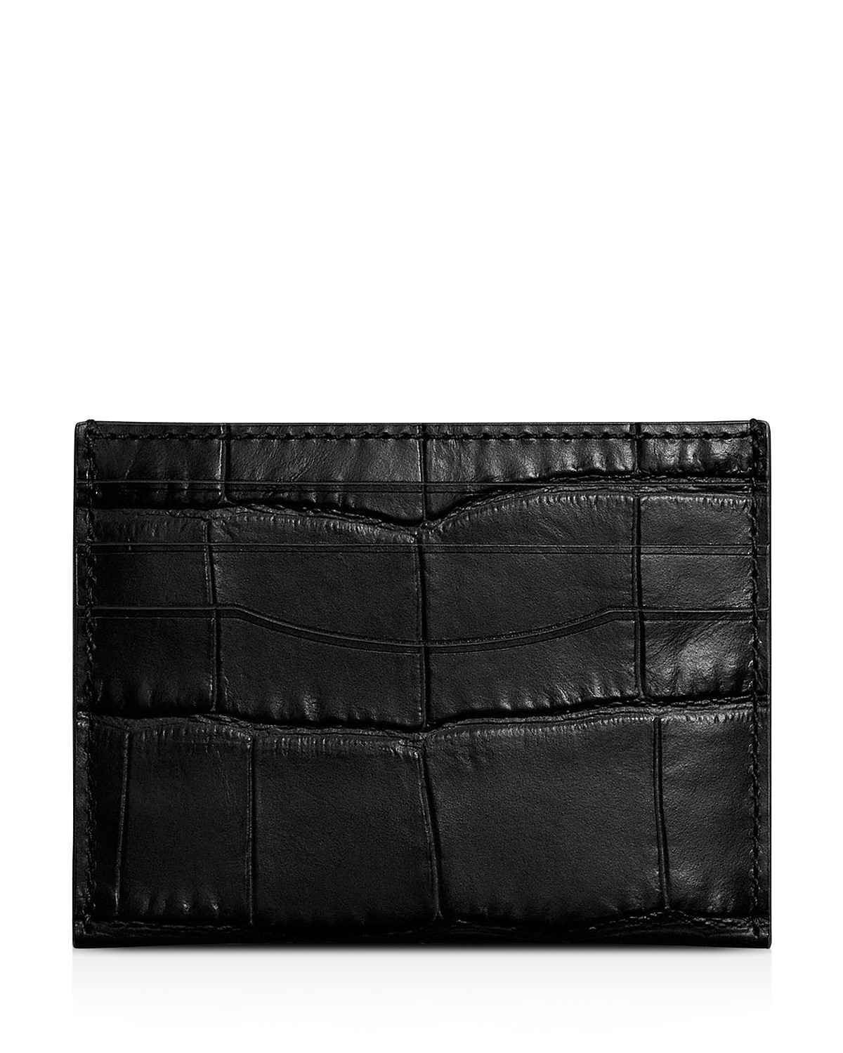 COACH Card Case in Crocodile Embossed Leather | Bloomingdale\'s