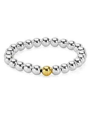 Sterling Silver Beaded Stretch Bracelet