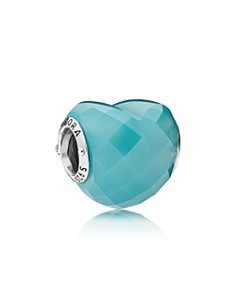 PANDORA Sterling Silver & Cubic Zirconia Blue Shape of Love Charm - Bloomingdale's_0