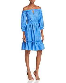 MILLY - Amanda Off-the-Shoulder Dress
