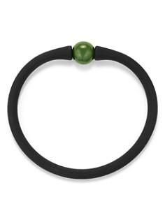 David Yurman - Spiritual Beads Stone Rubber Bracelet with Nephrite Jade