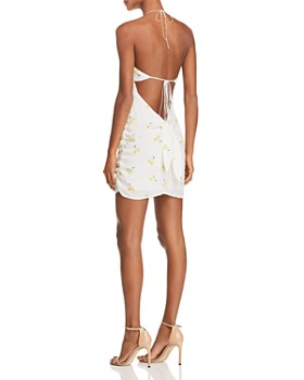 For Love & Lemons - Ashland Cherry-Print Halter Dress