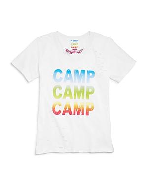 So Nikki. Girls' Distressed Camp Tee - Big Kid