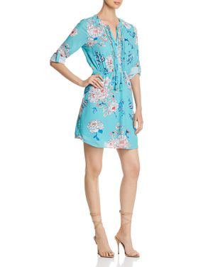 DANIEL RAINN FLORAL-PRINT SHIRT DRESS