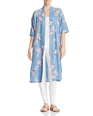 Billy T LIGHTWEIGHT CHERRY BLOSSOM DUSTER JACKET