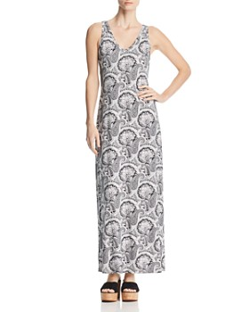 Robert Michaels - Paisley V-Neck Maxi Dress