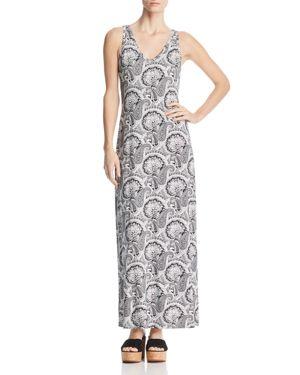 Robert Michaels Paisley V-Neck Maxi Dress