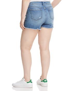 SLINK Jeans Plus - Camo Pocket Distressed Denim Shorts