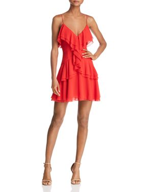 C/MEO COLLECTIVE ELUDE RUFFLE MINI DRESS