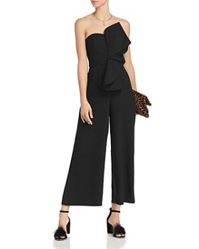 Keepsake - Love Light Strapless Ruffle-Accented Jumpsuit - 100% Exclusive