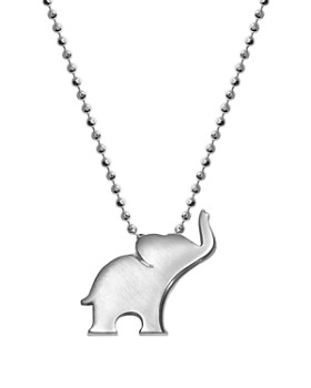 """Alex Woo - Silver Luck Elephant Necklace, 16"""""""