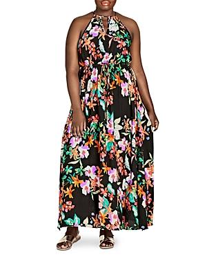 City Chic Plus Molokai Floral-Print Maxi Dress