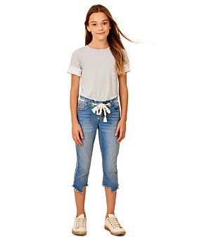 Habitual - Girls' Sabrina Capri Jeans with Rope Belt - Big Kid