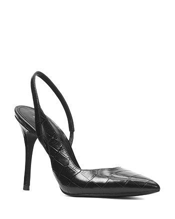 bd5cbe673e69 MICHAEL Michael Kors - Women s Eliza Croc-Embossed Leather Slingback Pumps