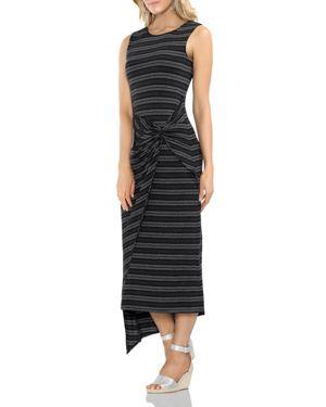 Vince Camuto Striped Twist Overlay Dress 2988060
