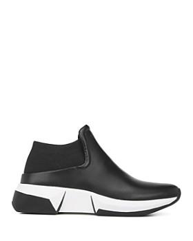 Via Spiga - Women's Veila Leather & Knit Slip-On Sneakers
