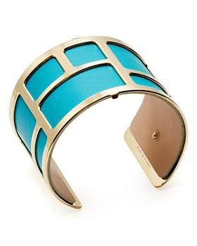 Les Georgettes - Labyrinthe Reversible Wide Two-Tone Open Cuff Bracelet