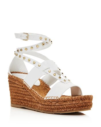 Jimmy Choo - Women's Danica 80 Leather Platform Espadrille Wedge Sandals