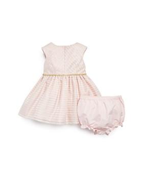 Pippa & Julie - Girls' Metallic-Striped Dress & Bloomers Set - Baby