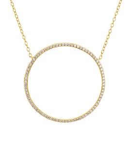 """AQUA - Large Circle Necklace in Platinum-Plated Sterling Silver or 18K Gold-Plated Sterling Silver, 13"""" - 100% Exclusive"""