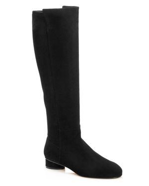 Women'S Eloise 30 Almond Toe Suede Boots, Black