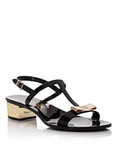 Salvatore Ferragamo - Women's Favilia Jelly Block Heel Sandals
