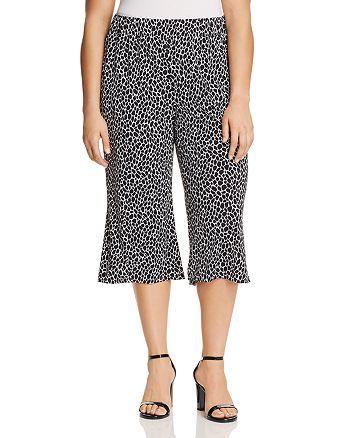 649d95d7ee302 MICHAEL Michael Kors Plus Giraffe-Print Wide-Leg Crop Pants ...