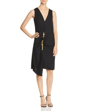 Kenneth Cole Embellished Twist Wrap Dress 3003879