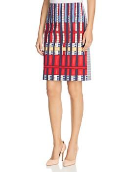 NIC and ZOE - Santiago Hills Block-Print Pencil Skirt