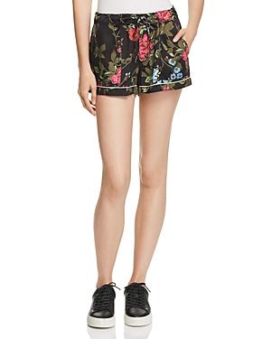 Pam & Gela Floral Print Drawstring Shorts