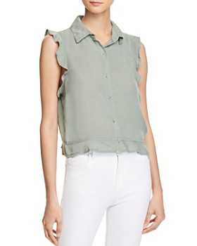 Bella Dahl - Ruffle Button-Down Blouse