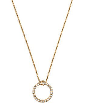 Roberto Coin - 18K Yellow Gold Princess Tiny Treasures Extra Small Diamond Circle Pendant Necklace, 16""