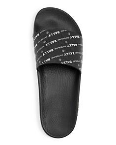 Bally - Men's Slanter Logo Print Slide Sandals