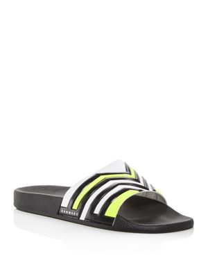 DANWARD Men'S Multi-Stripe Slide Sandals in Yellow