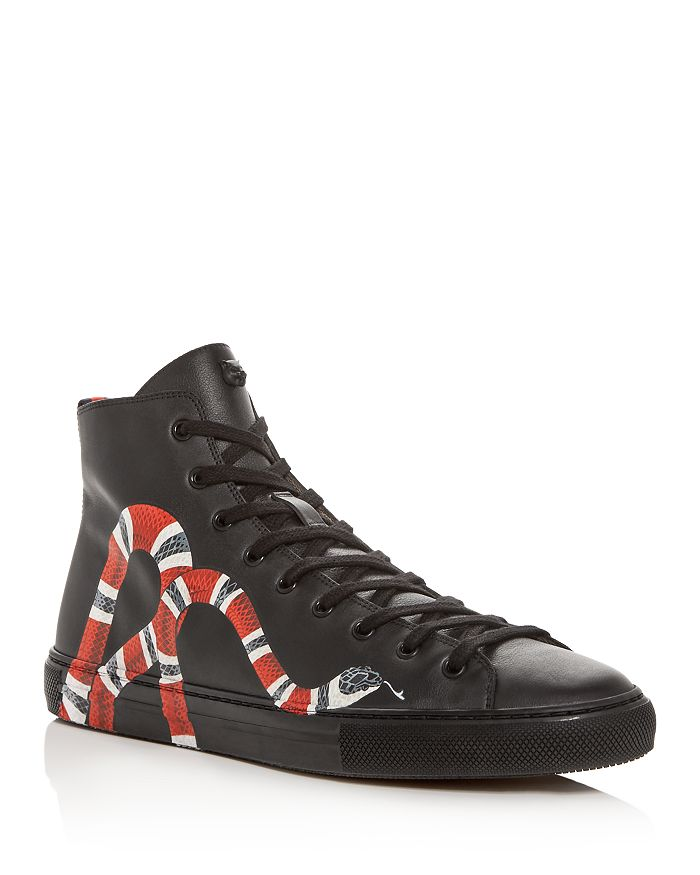 2aa71910f6f Gucci - Men s Snake Print Leather High Top Sneakers