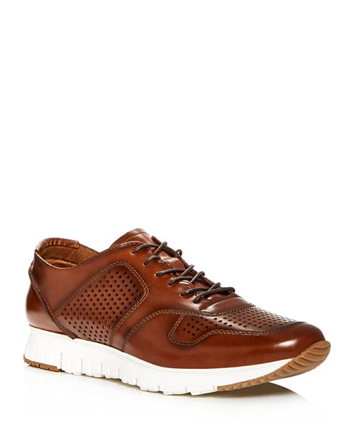 Kenneth Cole - Men's Bailey Perforated Burnished Leather Lace Up Sneakers