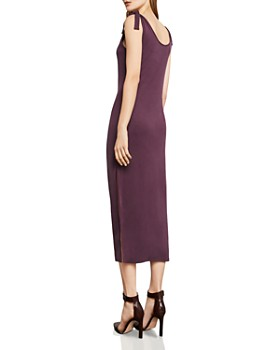 BCBGMAXAZRIA - Tie-Strap Midi Dress