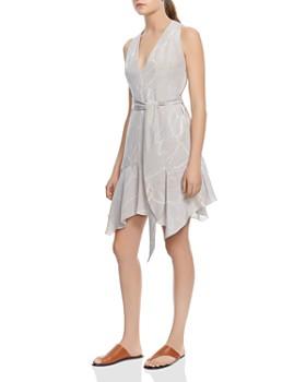 HALSTON HERITAGE - Printed Handkerchief Hem Dress