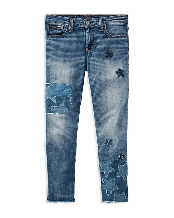 4c2488d41 Ralph Lauren Girls' Patchwork Star Jeans - Big Kid | Bloomingdale's