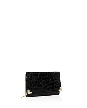The Kooples Croc-Embossed Leather Wallet
