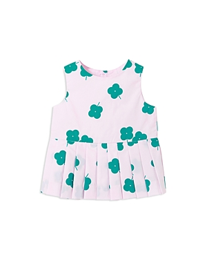 Jacadi Girls Pleated CloverPrint Top  Baby
